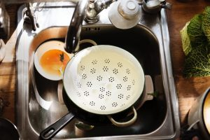 how to unclog a kitchen drain with standing water