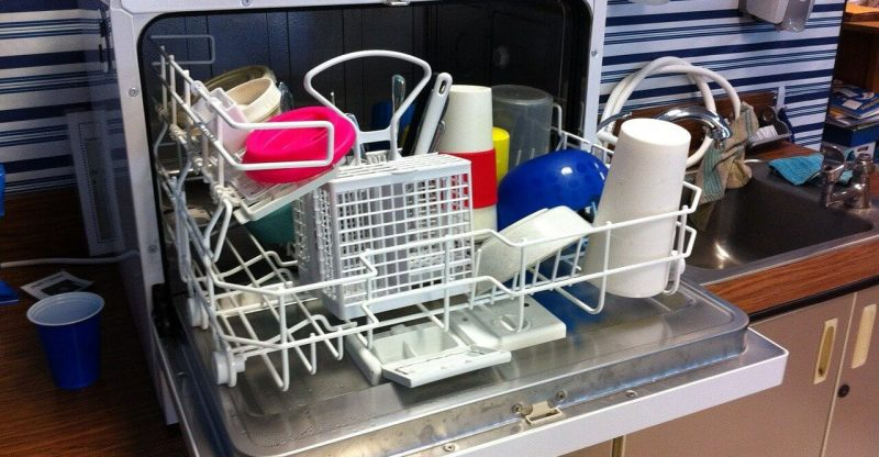 Table Top Dishwasher Setup
