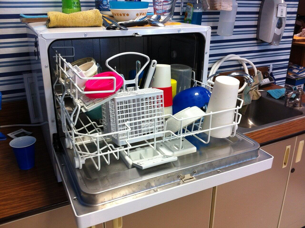 Table Top Dishwasher Setup