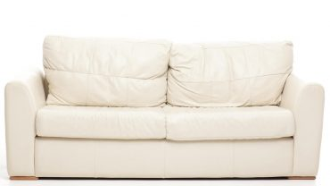 how to clean cream leather sofa
